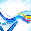 Stock Vector: Abstract colorful wave background with sparkle