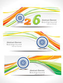 Abstract republic day web banner — Stock Vector
