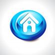 Abstract glossy home button — Vector de stock #21823903