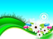 Sfondo astratto estate con fiore — Vettoriale Stock
