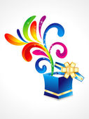 Abstract colorful floral with magic box — Vecteur