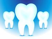 Abstract teeth icon — Stock Vector