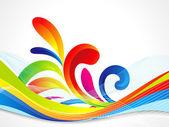 Abstracte kleurrijke Golf achtergrond — Stockvector