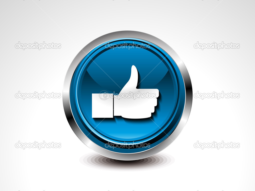 Facebook Like Button Download Vector Glossy Like Button Vector