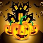 Halloween background with pumpkin — Stock Vector