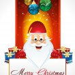 Chirstmas background with santa claus — Stock Vector