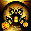 Halloween House background — Stock Vector