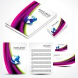 Wave Brochure Set Design — Stock Vector