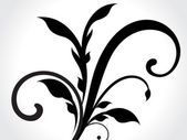 Dark Floral Desing — Vector de stock