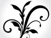 Dark floral desing — Vector de stock