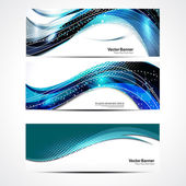 Abstract Wave Banner Set — Stock Photo
