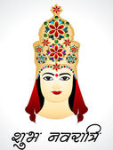 Navratri Card Design With Devi G — Vetorial Stock