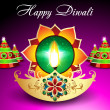 Stock Vector: Diwali Background With Sparkle