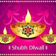 Diwali background With flroal — Stock Vector