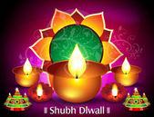 Diwali Card Design — Stock Vector