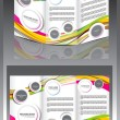 Stock Vector: Tri Fold Wave Brochure Design