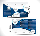 Corporate Tri Fold Brochure — Vetor de Stock
