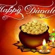 Diwali background with Floral — Imagen vectorial