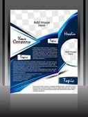 Blue Wave Flyer Design — Stock Vector