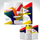 Tril Fold Colorful Brochure Design — Stock Vector
