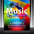 Colorful Music Flayer Design — Stock Vector