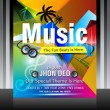 Vector music flyer design — Stock Vector