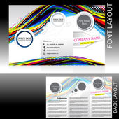 Vecotr colorful wave brochure design — Stock Vector