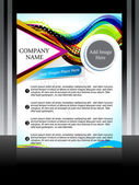 Vector coloful flyer with wave — Vector de stock