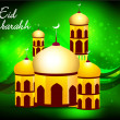 Green eid background — Stock Vector