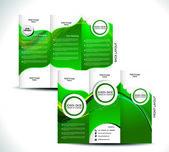 Green Tri Fold Brochure Design — Stock Vector