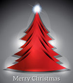 Abstract Christmas Tree Background — Vector de stock