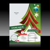 Christmas Flyer Design — Stockvektor