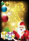 ギフト クリスマス休日の背景 — ストックベクタ