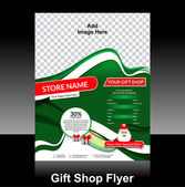 Gift shop flyer Design — Wektor stockowy