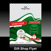 Gift shop flyer Design — Stock Vector