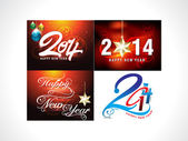New Year Background Set — Stock Vector