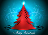 Christmas Background With Tree — Stock Vector