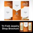 Stock Vector: Tril Fold Jewelry Shop Brochure