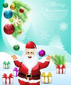 Christmas backgorund with Snow — Stock Vector
