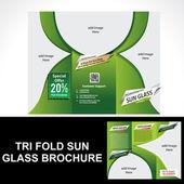 Tri Fold Sun Glass Brochure — Stockvektor