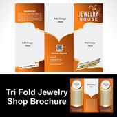 Tril Fold Jewelry Shop Brochure — Stock Vector