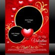 Vector Valentine Day Flyer — Stock Vector