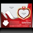 Valentine Day Flyer Template — Stock Vector