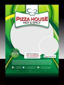 Pizza Store Flyer Design — Stock Vector