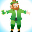Stock Vector: Leprechaun Cartoon