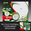 Stock Vector: Tri Fold Football Tournament  Brochure