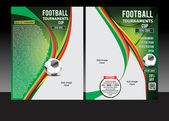 Football Tournament Cup Flyer — Stock Vector