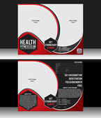Health Fitness Flyer Template — Stock Vector