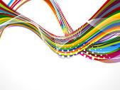 抽象的なカラフルなベクトルの背景 — ストックベクタ