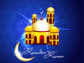 Blue Ramadan Background — Stock Vector